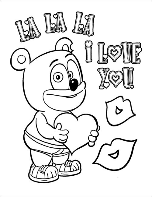 gummy bear coloring pages print - photo#9