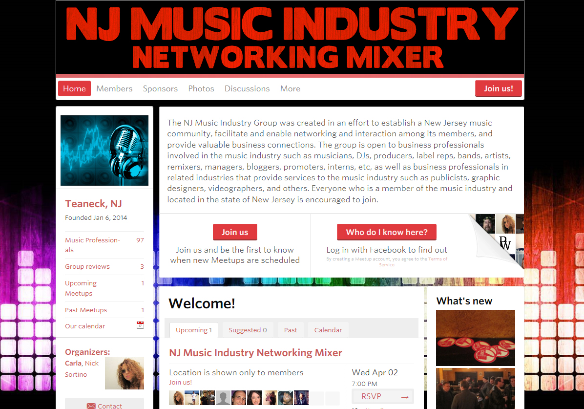 nj music industry group screenshot